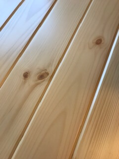 natural clear tongue and groove